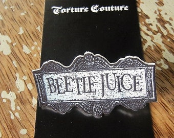 BEETLEJUICE Hair CLIP Alligator Torture Couture Gothic Goth Lolita Halloween Creepy Spooky Dantes Inferno Lydia Deetz Ghost Underworld