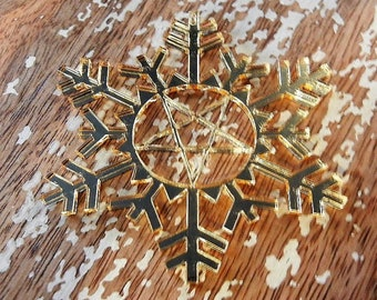 More Colors Pentagram Snowflake Ornament Torture Couture Gothic Horror Goth Acrylic Lolita Star Witch Christmas Xmas Occult Ornaments