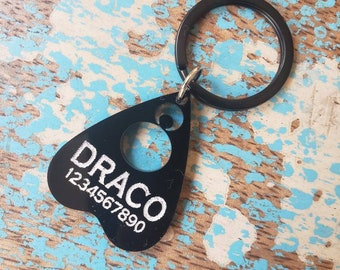 Moon Planchette Pet or Key Chain ID Tag