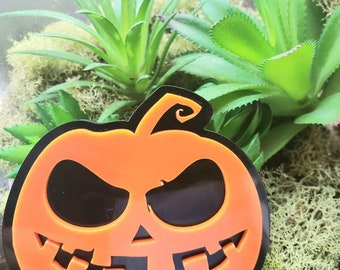 More Colors Jackolantern Pumpkin Pin Brooch skellington Halloween Horror Spooky gothic goth trick or treat
