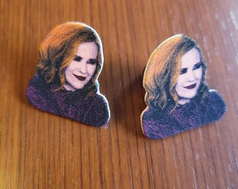Moira Rose character Earrings Studs schitts creek tv show Colorful bebe