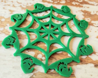 Oogie Boogie Spiderweb Ornament Snowflake More Colors Torture Couture Gothic Horror Goth Acrylic Lolita Christmas Xmas Ornaments Web