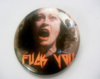 Fuck You Mommy Dearest Button barbie Kawaii Bubblegoth Torture Couture Goth Gothic lolita 90s brooch pin flair punk leather jacket egl