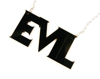 EVIL dead Acrylic Word Necklace Torture Couture Villain Sinister Horror Gore Monster Gothic Goth