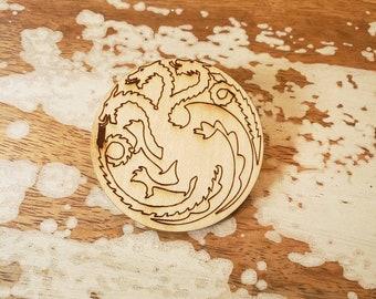 House Targaryen Mother of Dragons Pin Brooch GOT game of thrones inspired dragon emblem iron throne