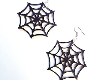 Spiderweb Hook Earrings spider Web Gothic Goth Kawaii More Colors webs Spooky Dangle other mother