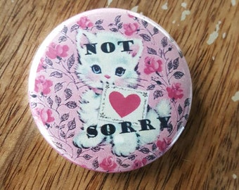 NOT SORRY Bowtie Bow Tie Cat Kitten kittens Christmas Button Torture Couture bad kitty pussycat Xmas holidays holiday lolita