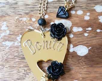 Bonita Planchette Necklace Ouija Medium Size Horror spirit board Etched Laser Cut Occult