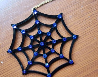Crystal Spiderweb Ornament Snowflake More Colors Torture Couture Gothic Horror Goth Acrylic Lolita Christmas Xmas Ornaments Web