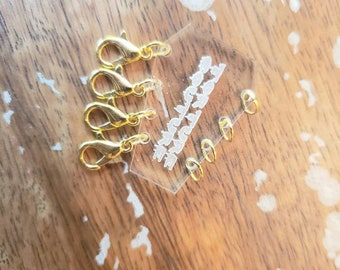 Multi Layered Layer Necklace Connector Chain Saver Coffin Charm Connection jewelry clasp