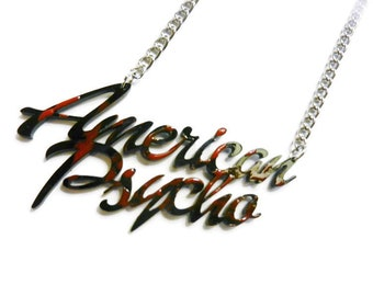 American Psycho Blood Necklace