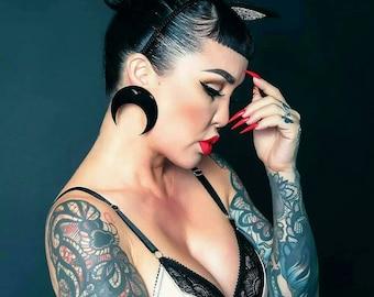 Crescent Bat Earrings