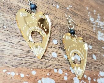 Planchette Earrings Ouija
