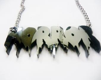 Custom Drippy Name Necklace