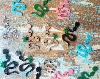 Moon Snake Earrings, More Colors