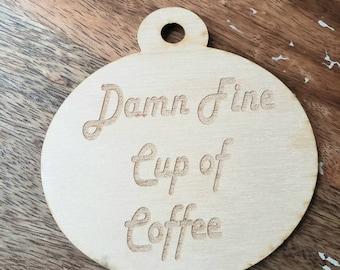 Reversible Fine Coffee Ornament