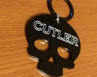 Skull Pet ID Tag or Key Chain