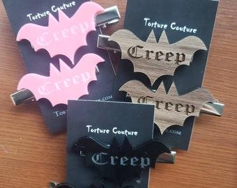 Creep Bat Hair Clips - More Colors