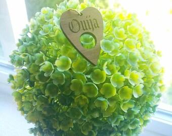 Ouija Heart Pet ID Tag Charm