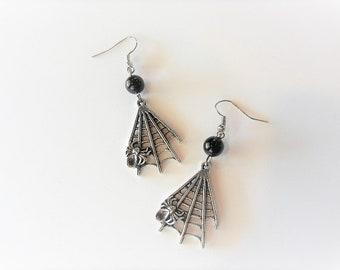 Spiderweb Bead Earrings