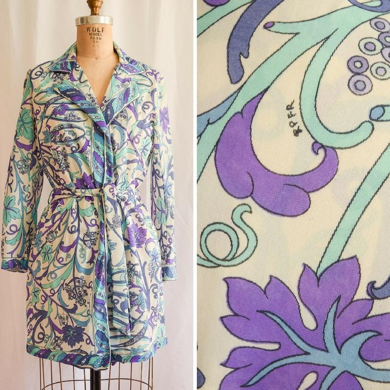 9eddbc96af0e3 Emilio Pucci for Formfit Rogers Vintage 1960's Short Robe | Etsy