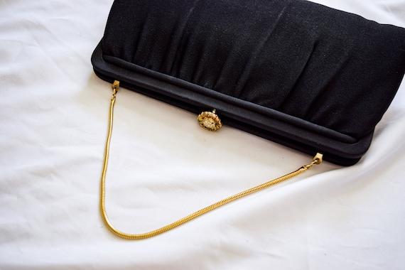 Vintage black change purse or clutch