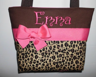 CHEETAh ...  CHILD  Size  Bag.. ... Girl Purse ...  Monogrammed  FReE ... Choose Accent Color