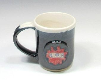 Mom Mug - Ceramic Mug - Pottery Mug for Mom - Pottery Coffee Mug Mandala - Ceramic Coffee Cup - Ceramic Mug - Tea Mug - Black and white Mug