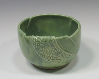 Ceramic Soup Bowl - pottery dip bowl - green bowl - soup bowl - ice cream bowl - noodle bowl - rice bowl - chili bowl - soup mug - dip bowl