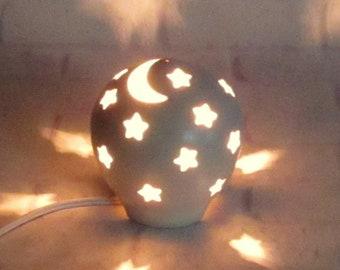 Starry Nights Nursery Lamp
