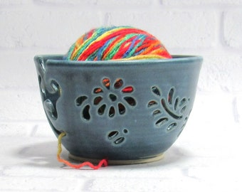 Yarn Bowl - Knitting Bowl - Crochet Bowl - Yarn Holder - Bowl for Knitters - Yarn Keeper