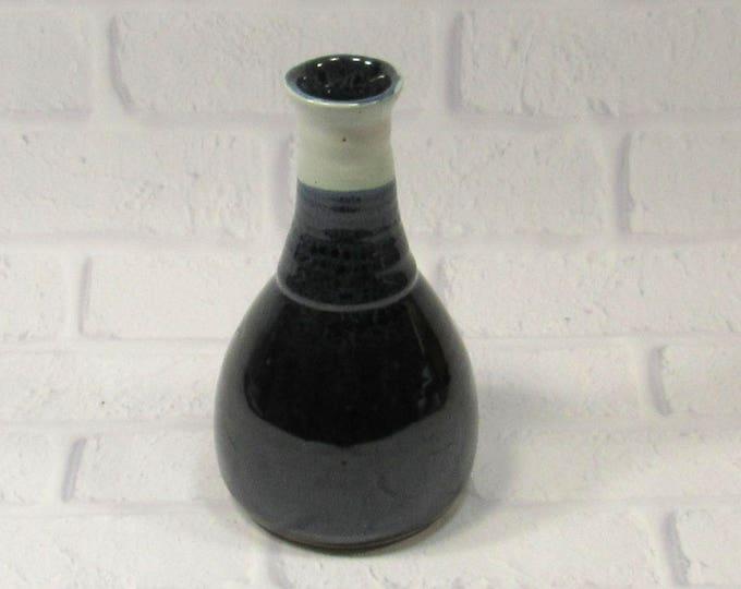 Featured listing image: Ceramic Bud Vase - Bottle Vase - Pottery Bottle - Sake Bottle - Flower Vase - Black and White Vase - Modern Decor - Contemporary Decor