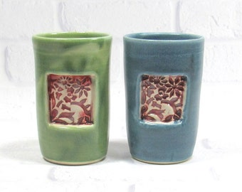 Wine or Whiskey Cup Tumbler Handmade Pottery