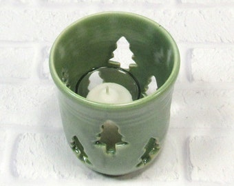 Tealight Votive Candle Holder - Pencil Holder - Handmade Pottery