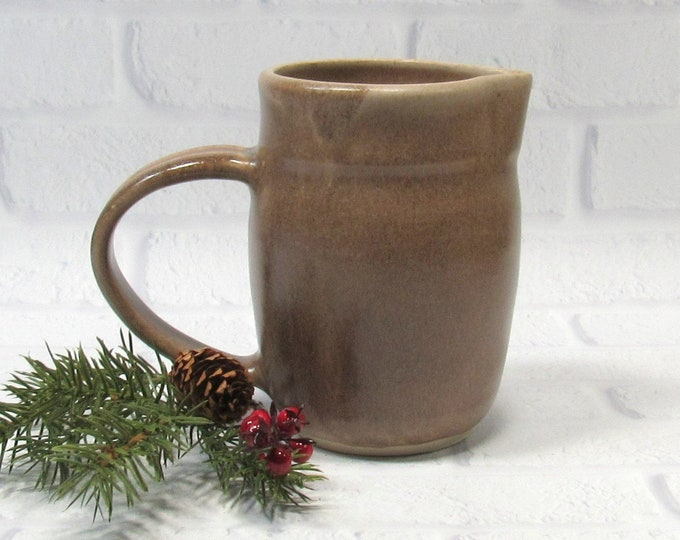 Featured listing image: Brown Pottery Pitcher - Creamer - Ceramic Jug - Handmade Pottery