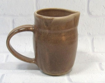 Pitcher - Water Jug - Brown Pottery Pitcher