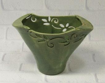 Fan Vase, Mother's Day Gift, Handmade Pottery
