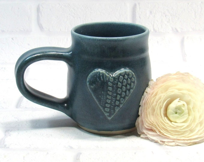 Featured listing image: Mug - Mug for Mom - Heart Mug - Sweetheart Mug - Mothers Day Gift - Coffee Cup - Tea Mug - Wedding Favor - Handmade Pottery