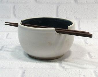 Pottery Bowl - Chopstick Bowl - Rice Bowl - Ceramic Noodle Bowl - Ramen Bowl - Soup Bowl - Appetizer Dip Bowl
