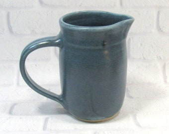 Large Pitcher - Water Jug - Blue Pottery Pitcher
