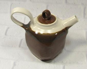 Sale SECONDS Teapot - Large Square teapot - Modern Coffeepot - Ceramic Coffee pot - Pottery Tea Pot - Brown Teapot - Tea Time - Tea Server