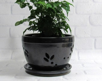 Flower Pot - Orchid Pot - Planter - Cachepot