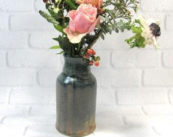 Ceramic Flower Vase - Pottery Vase - Mantelpiece Accent Decor - Decorative Vase - Kitchen Utensil Holder