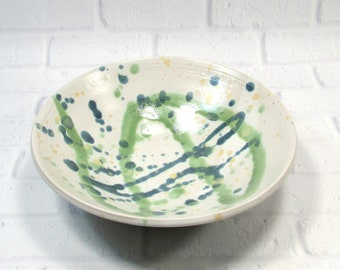 Pasta or Salad Serving Bowl - Centerpiece - Fruit Bowl - Handmade Pottery