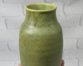 Ceramic Flower Vase - Green Vase - Pottery Vase - Sake Jar - Decanter - Mantelpiece Accent Decor - Decorative Vase -Kitchen Utensil Holder