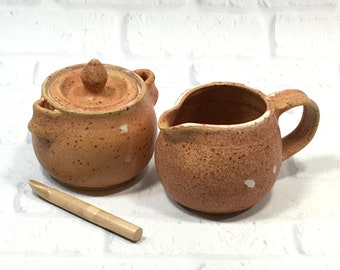 Sugar and Creamer Set - Teatime Serving Set - Pottery Creamer Set - Sugar Bowl - Ceramic Creamer - Cream and Sugar