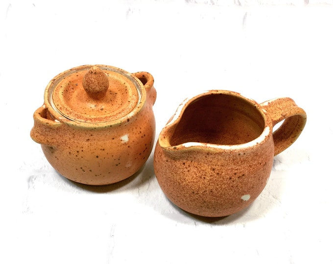 Featured listing image: Sugar and Creamer Set Handmade Pottery