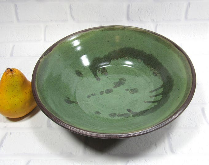 Featured listing image: Pasta Bowl - Pottery Salad Bowl - Large serving bowl - fruit bowl - centerpiece