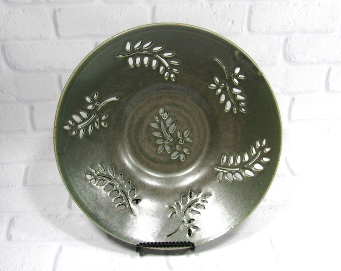 Featured listing image: Fruit Bowl - Decorative platter - Ceramic Bowl - Centerpiece - accent piece - Tabletop decor