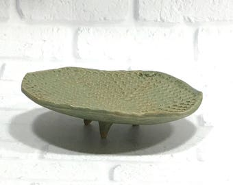 Textured Ceramic Dish for Jewelry, Candy or Soap - Handmade Pottery